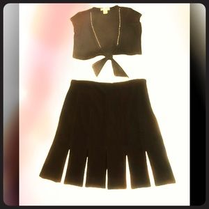 WHBM twirl skirt and glitter shrug